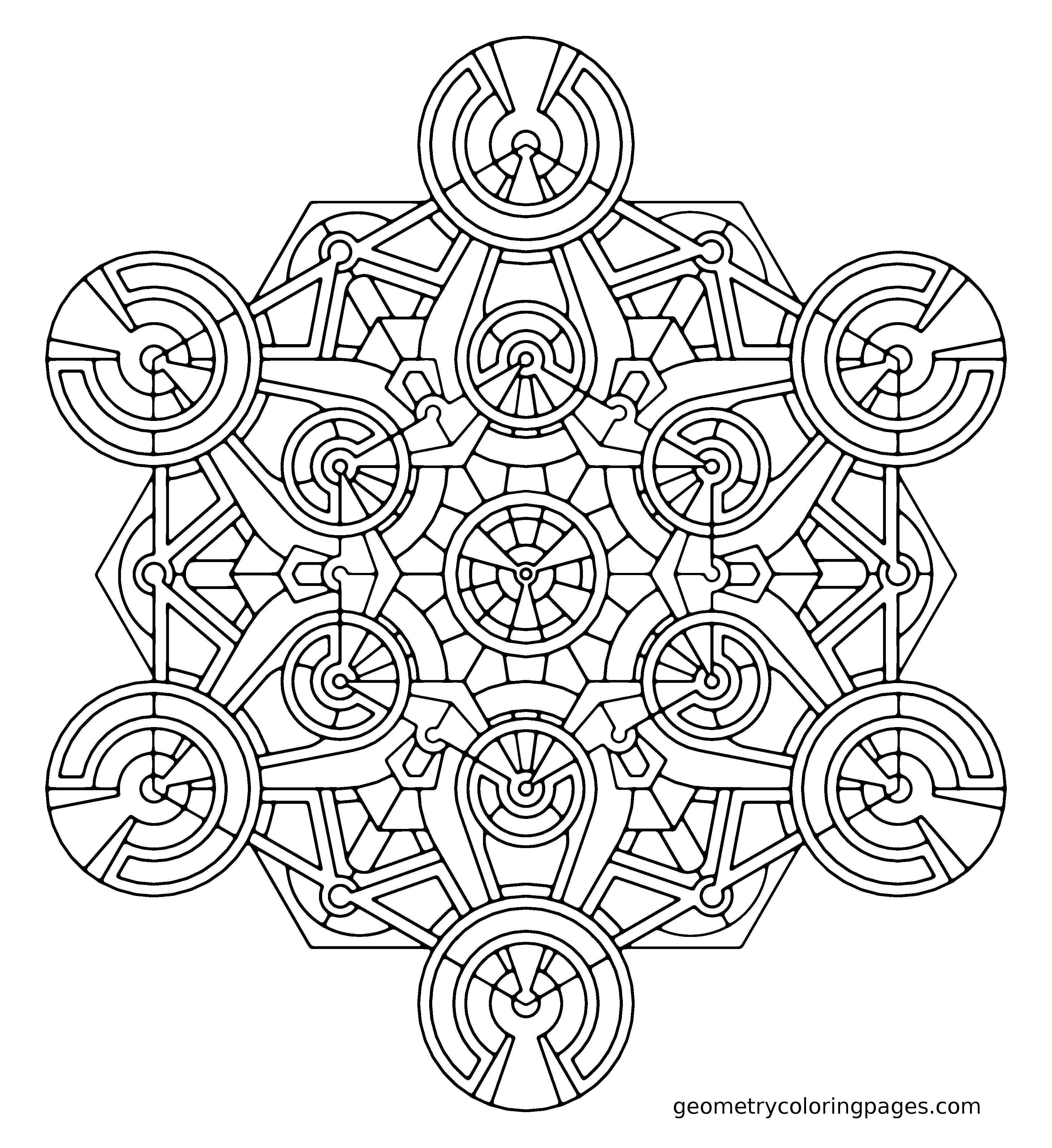 coloring page metatron u0027s generator from geometrycoloringpages com