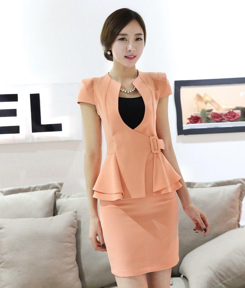 6a27da229b Barato Verão elegante saias ternos Blazer e jaqueta define magro escritório  uniforme estilo roupa de trabalho