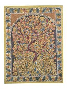 Tree Of Life Kalamkari Wall Hanging Kalamkari Painting Wall Hanging Middle Eastern Culture