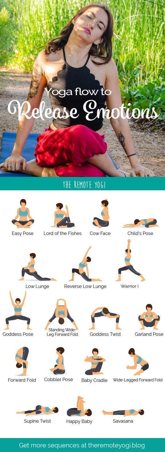 Yoga to Release Emotions - Printable Yoga PDF #pilatesyoga