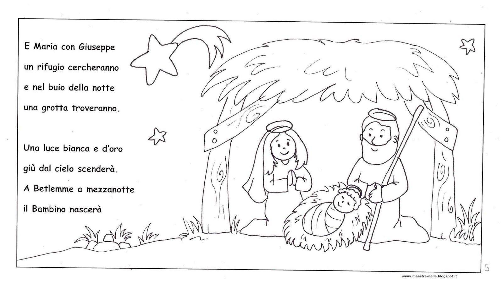 Disegni Da Colorare Grotta Di Natale.Disegni Idee E Lavoretti Per La Scuola Dell Infanzia E