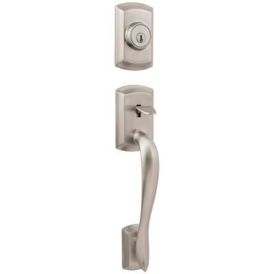 Bon Satin Option For Front Door Weiser   Avalon Handle Set With Avalon Interior  Lever   Satin Nickel Finish   GCL9471 AVH/AVL15 SMT VS 4LS1S12   Home Depot  ...