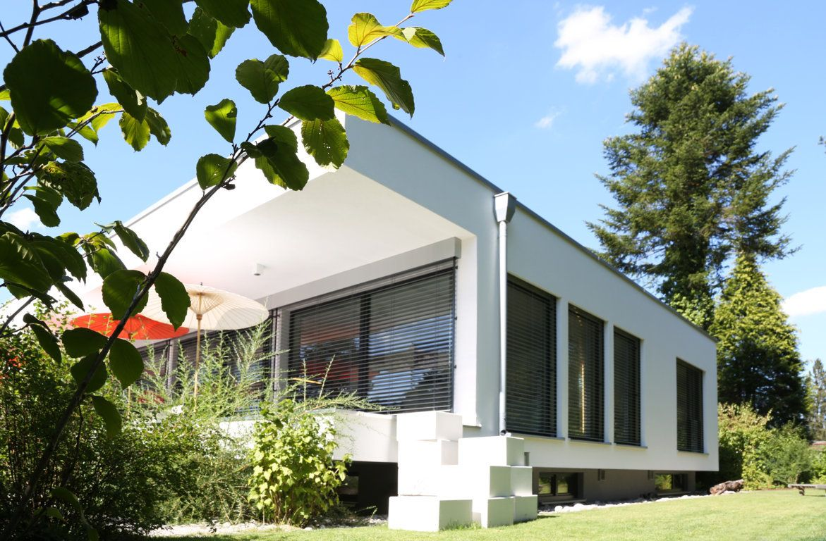 Bauhaus villa in münchen waldtrudering planung einfamilienhaus freier architekt fertighaus münchen