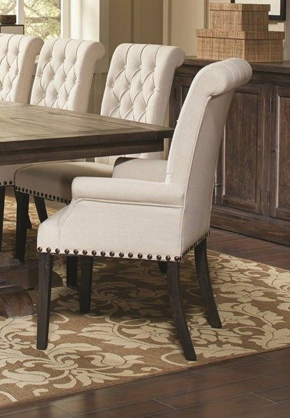 Coaster Furniture Weber Dining Arm Chair Upholstered Dining