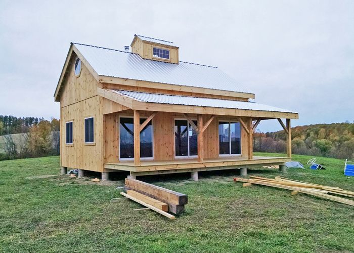 Our 20x30 timber frame cabin kits are our most for Small barn house kits