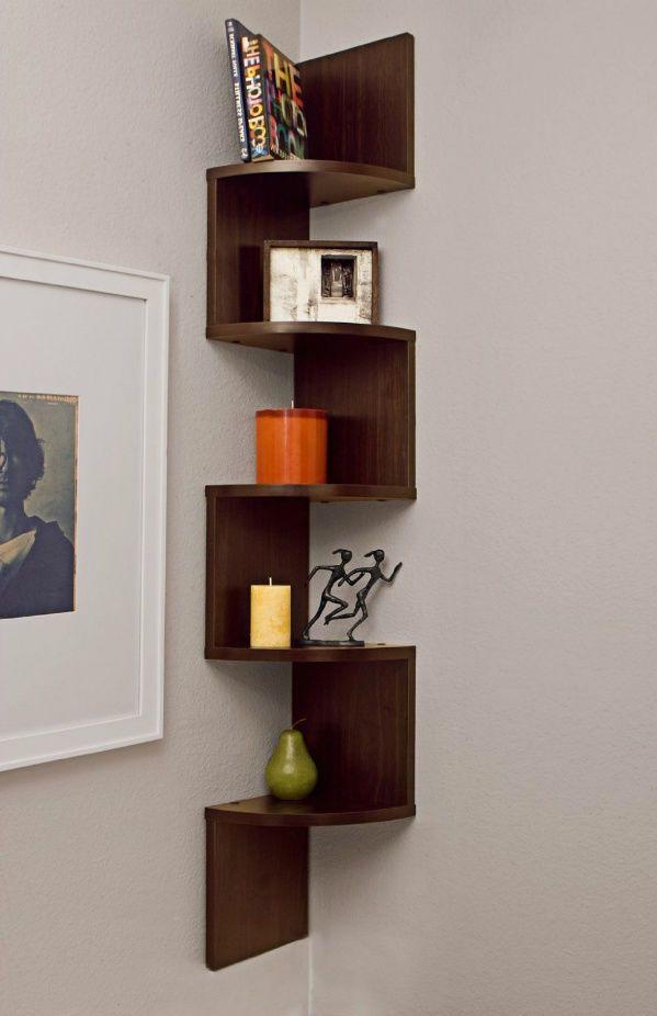 corner hanging shelf zig zag wall mount display garage on wall mount bookshelf id=67111