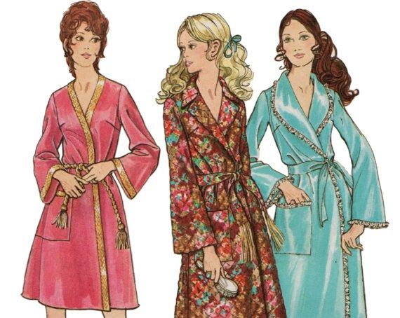 Womens Robe Bathrobe Pattern BUTTERICK 5997 Sz 20 B 42