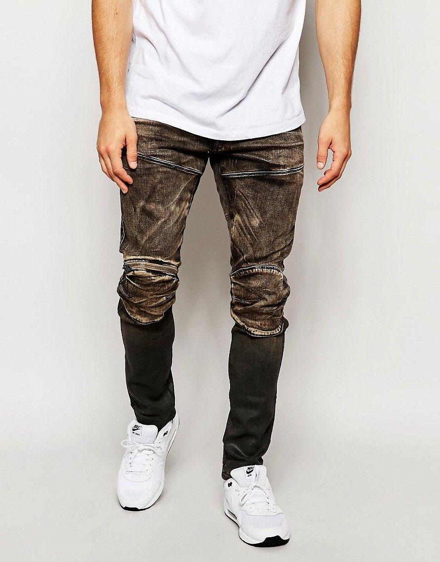 778cfed6029dc G-Star+Jeans+5620+Elwood +3D+Zip+Knee+Super+Slim+Fit+Slander+Black+Aged+Cob+48