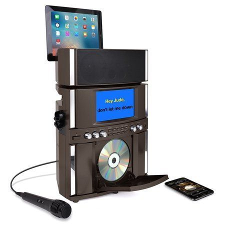 Musical Instruments #karaokeplayer Akai Ks800-bt Bluetooth Cd+g Karaoke System with USB Playback/Recording and 7 inch Color Display, Multi-color #bestkaraokemachine