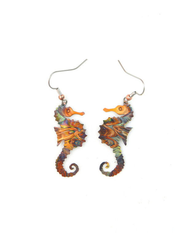 Sea Horse Rings Biomedical Stainless Steel Body Piercing Decoration Art Gifts