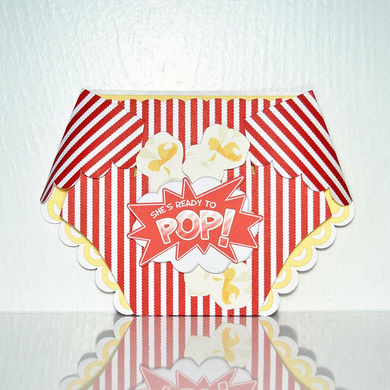 Popcorn diaper baby shower invitation kernel stripes pop food popcorn diaper baby shower invitation kernel stripes pop food red and filmwisefo Images