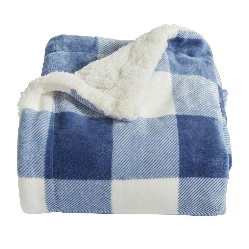 Home Fashion Designs Reversible Berber Velvet Plush Throw Blue House Styles Fashion Design Design