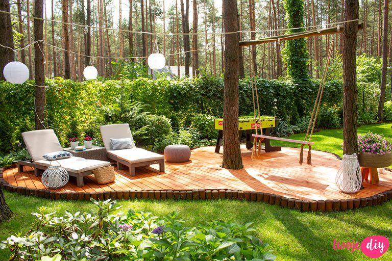 Photo of Nowy drewniany taras w moim leśnym ogrodzie – Twoje DIY