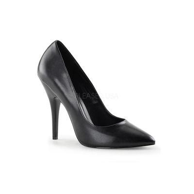 Pleaser SEDUCE-420, Zapatos de Tacón, Mujer, Negro (Blk Vel), 41