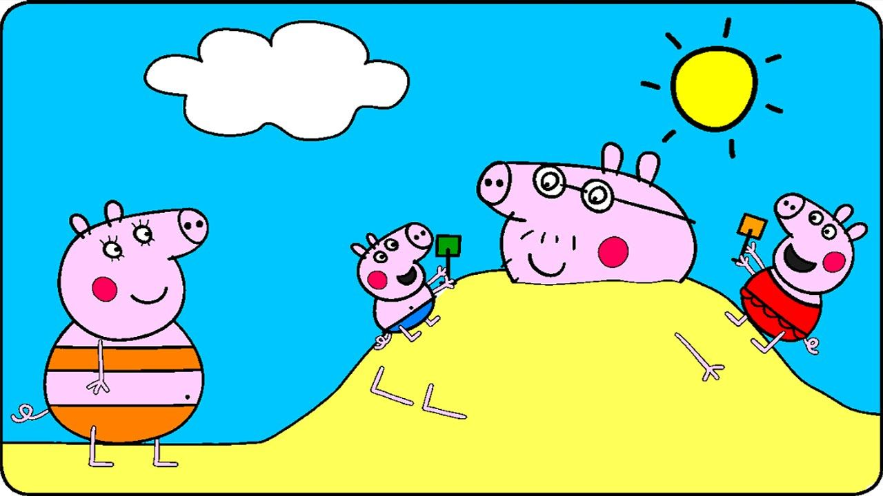 peppa pig coloring pages for kids peppa pig coloring games peppa pig at the - Coloring Games For Kids