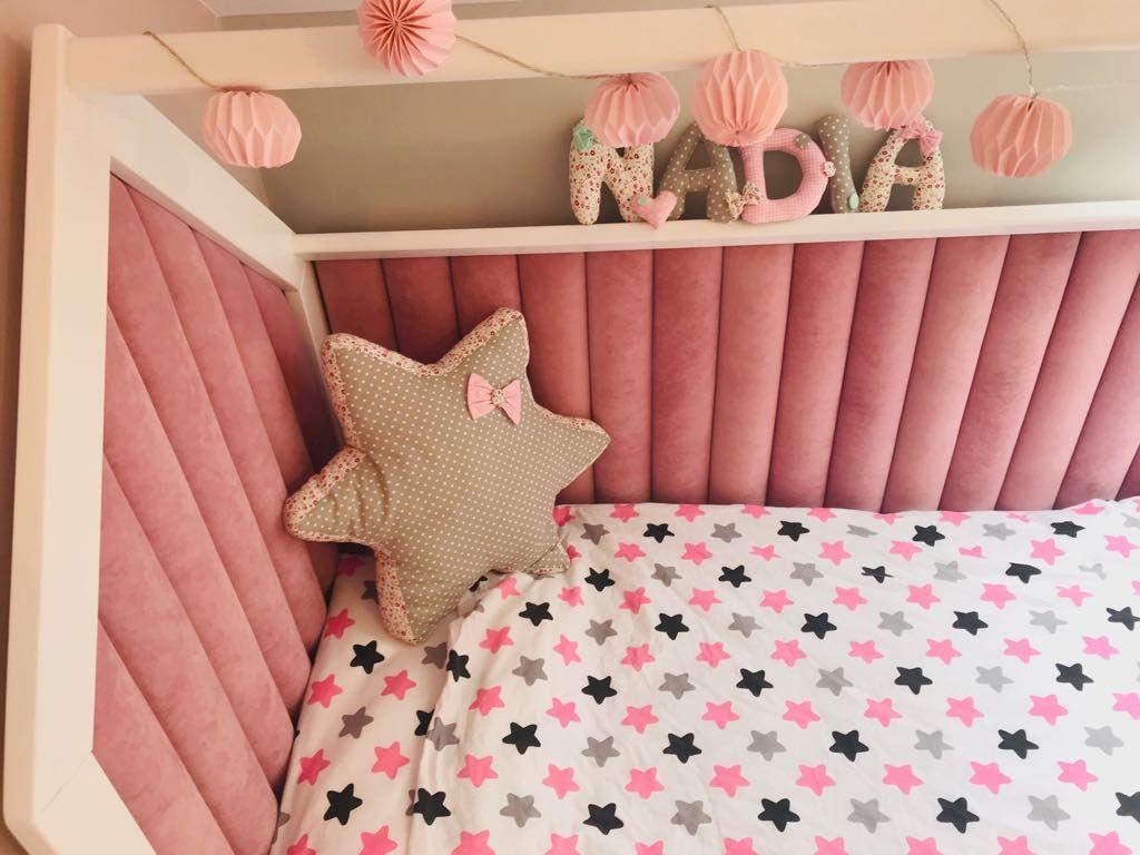 Lozeczko Domek Z Panelami Tapicerowanymi Dappi Bedroom Bed Design Bed Headboard Design Bed Design