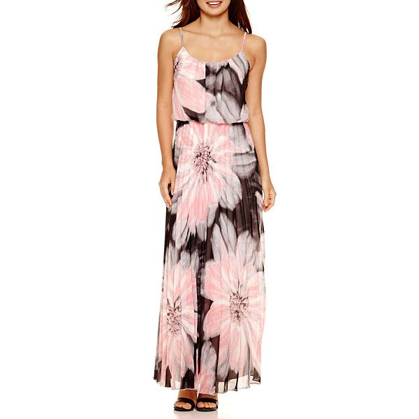 b6025c84ef82 Bisou Bisou® Sleeveless Pleated Maxi Dress - JCPenney