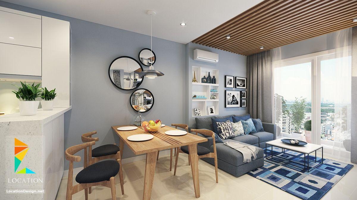 كولكشن مطابخ مفتوحه على الصاله للشقق الحديثة لوكشين ديزين نت Open Plan Kitchen Living Room Small Apartment Living Room Small Apartment Interior