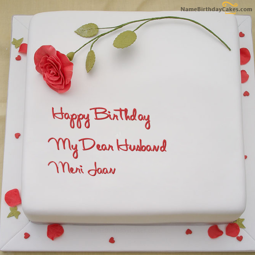 i have written meri jaan name on cakes and wishes on this birthday