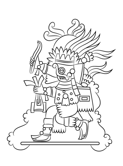 Aztec God Tlaloc Coloring Page Free Printable Coloring Pages Aztec Art Coloring Pages Art Reference Photos