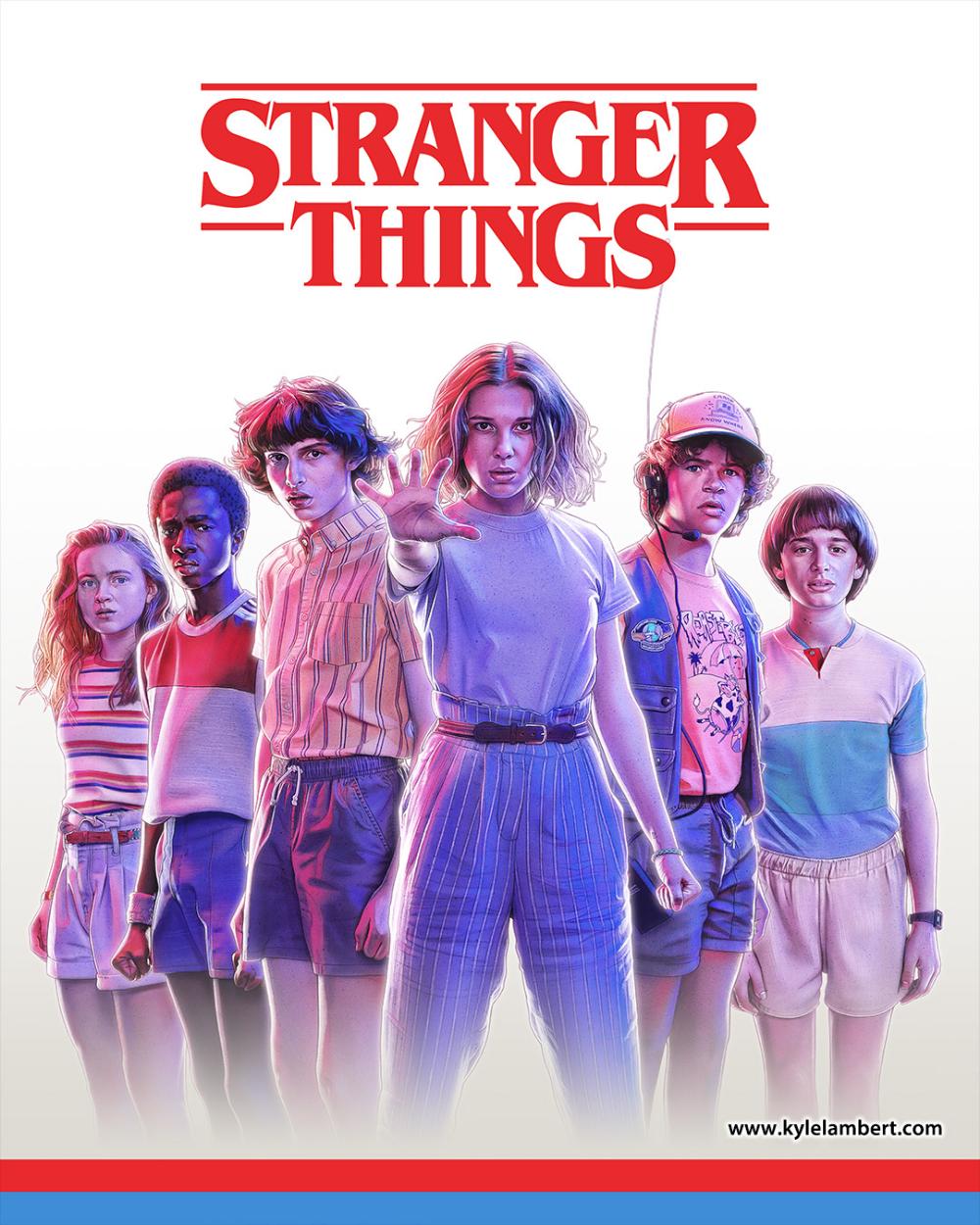 Stranger Things 3 - OFFICIAL Merch Art