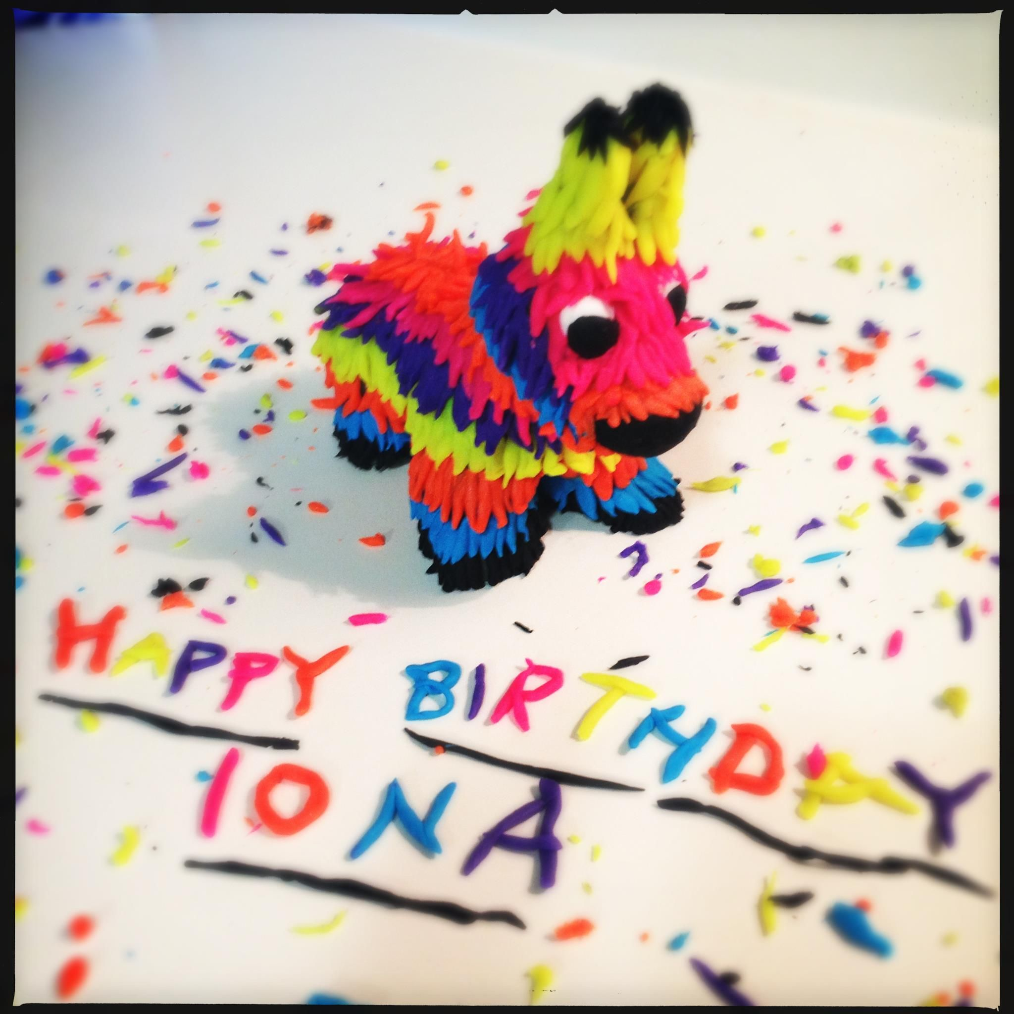 Piñata made with Play-Doh