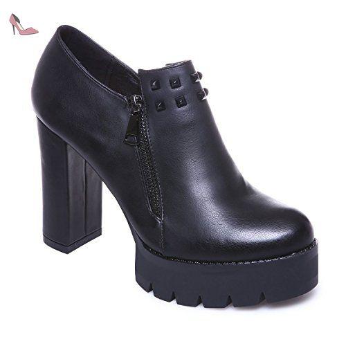 15b2aed2b9f La Modeuse - Low boots femme en simili cuir - Chaussures la modeuse  ( Partner