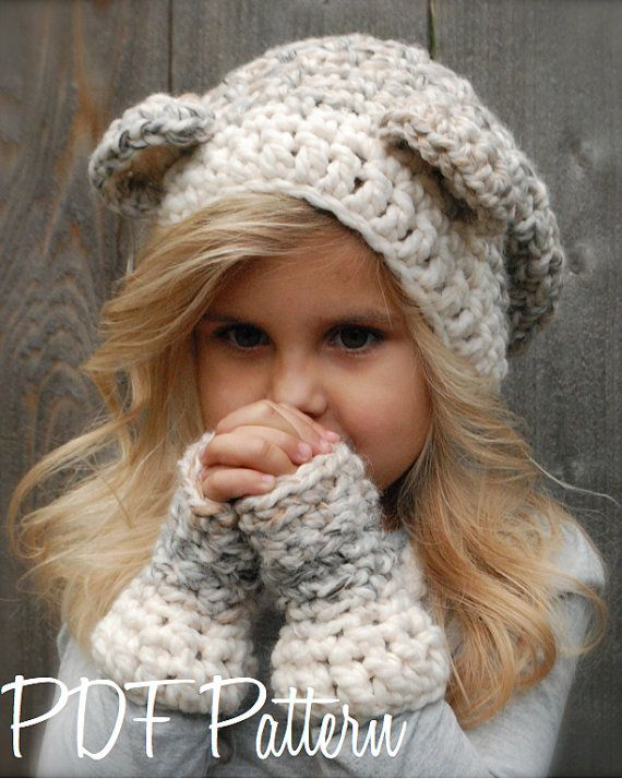 426df5d64da crochet PATTERNThe Burkleigh Bear Set Toddler by Thevelvetacorn