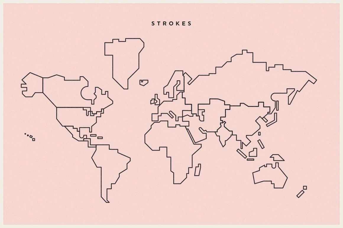World Map Simple Vector By TheSleepingSky On