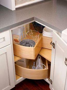 угловой шкаф фото в кухню