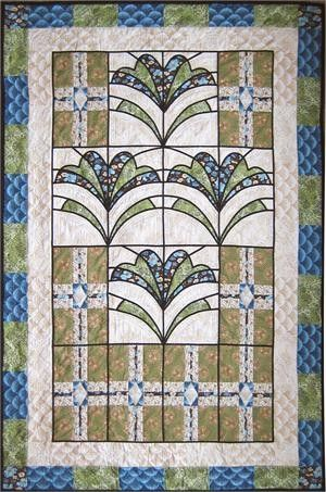 Arts And Crafts Style Quilts Stained Gl Pattern Book Craftsman Ebay