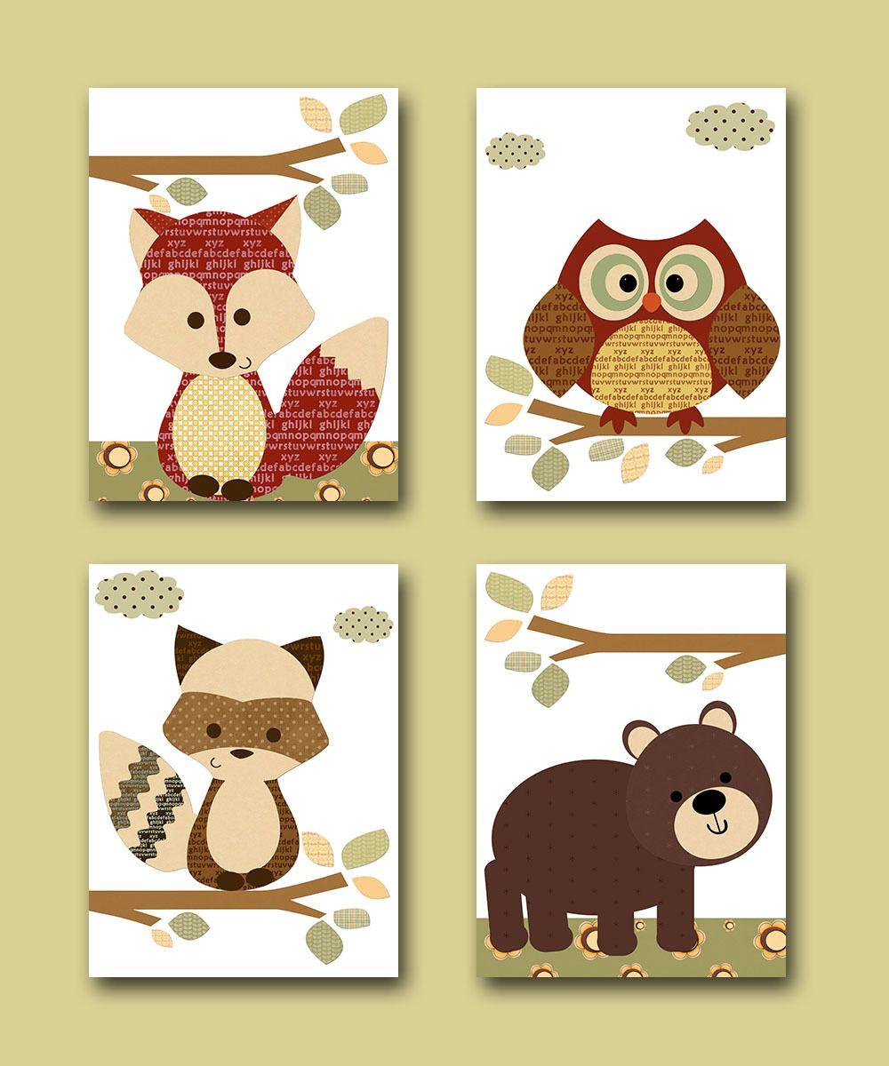 Woodland Nursery Decor // Woodland Nursery Art // Forest Animals ...