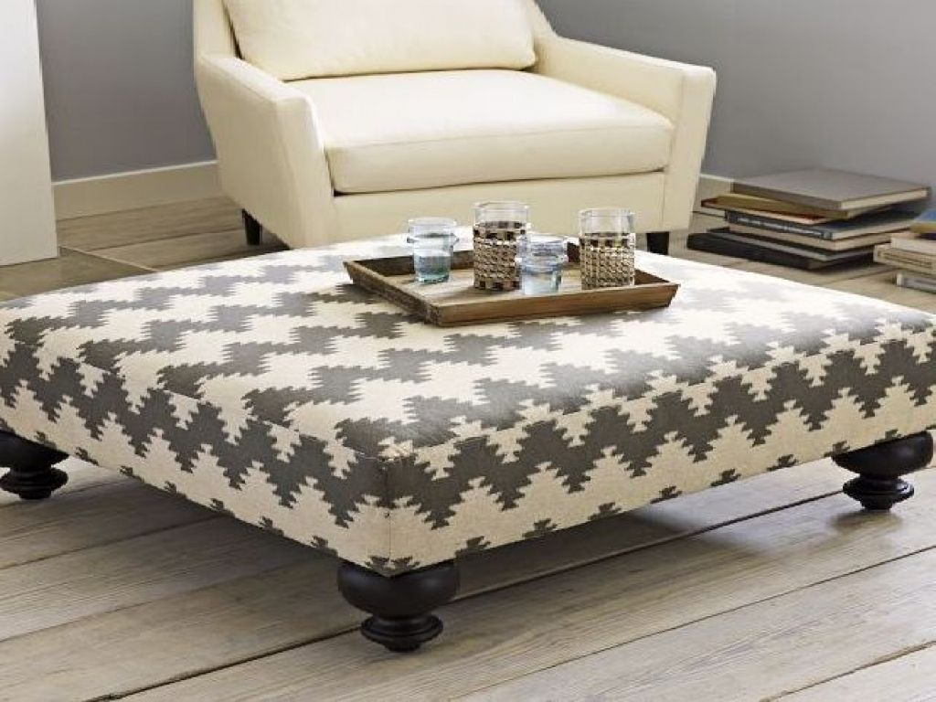 Upholstered Ottoman Coffee Table - http://tablefurnitures.top ...