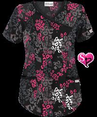 0982c8fc927 UA Butter-Soft STRETCH Lavish Leopard Black Print Scrub Top | Future ...