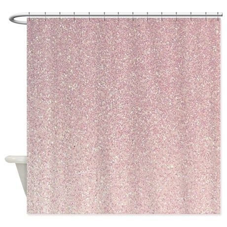 Light Pink Faux Glitter Texture Shower Curtain By Inspirationz Store Pink Shower Curtains Pink Showers Pretty Shower Curtains