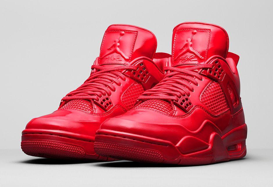 Nike Air Jordan 11 Laboratoire 4 Rouge Université  / Blanc  / Rouge Vif  / Noir