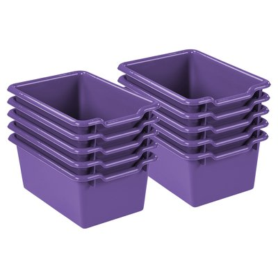 Ecr4kids Plastic Storage Bin Set Of 10 Color Purple Storage Bins Plastic Storage Bins Fabric Storage Bins