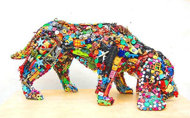 Recycling: Old Plastic Toys Get A New Life As A Dog | Art ...