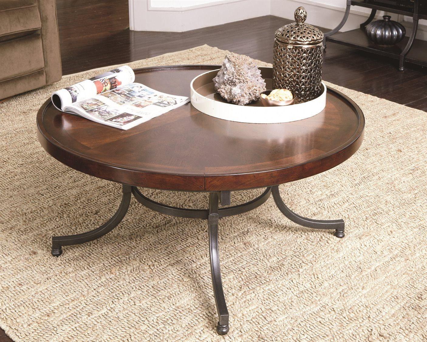 modern round coffee table set