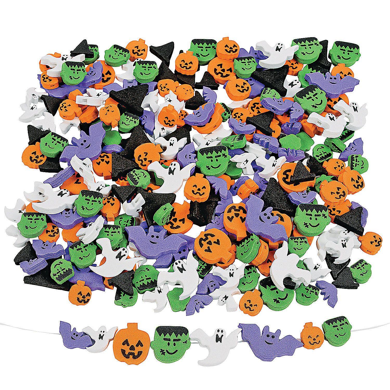 500 Fabulous Foam Halloween Bead Assortment