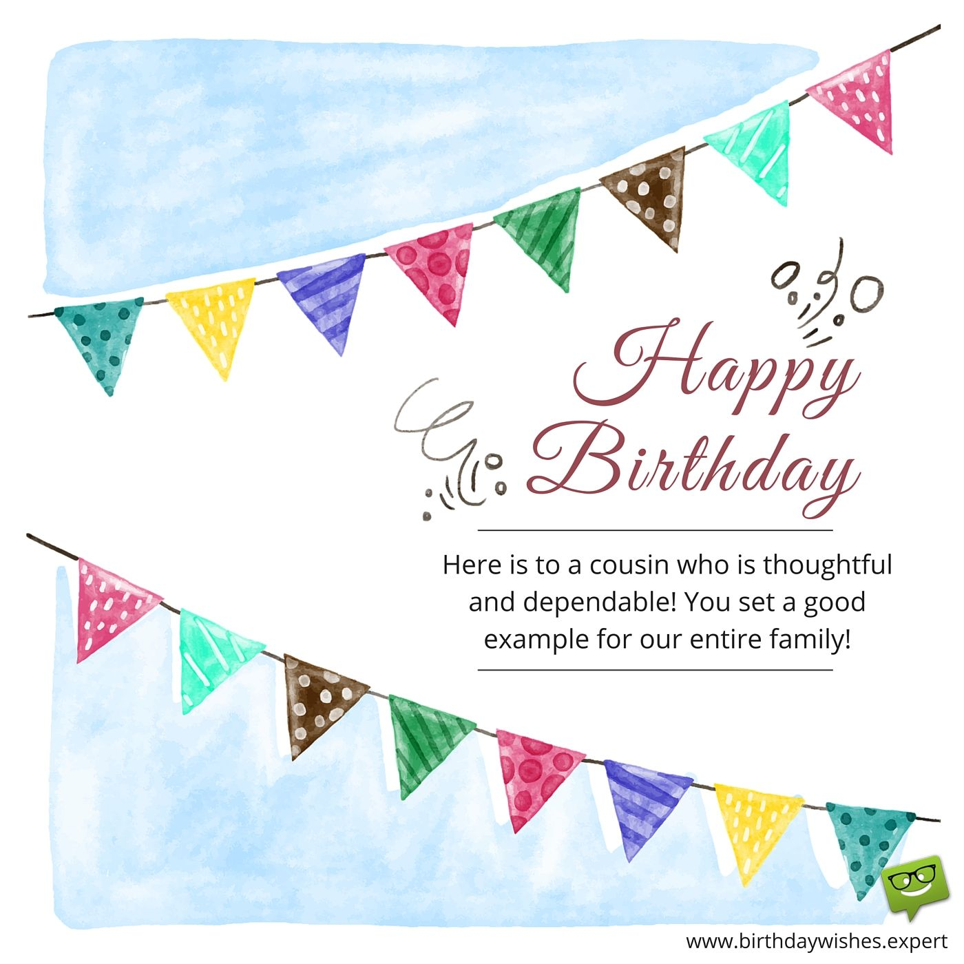 Happy birthday here is to cousin who is thoughtful and dependable birthdays kristyandbryce Image collections