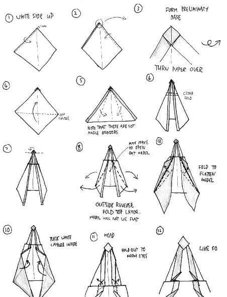 origami angel step by diagram three phase electric motor wiring papr csodk pinterest diagrams simple badger narnia instructions