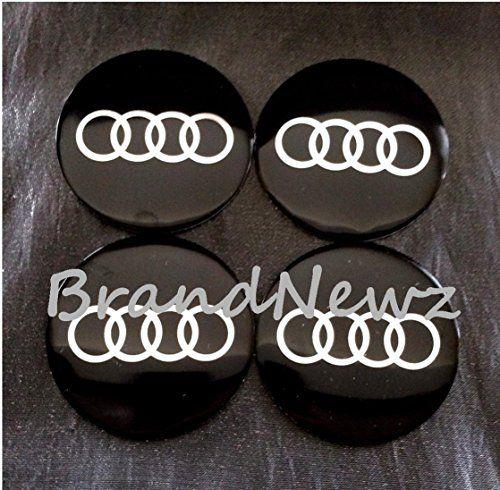 Audi Black Emblem Wheel Center Cap Sticker Logo Badge Wheel Trim