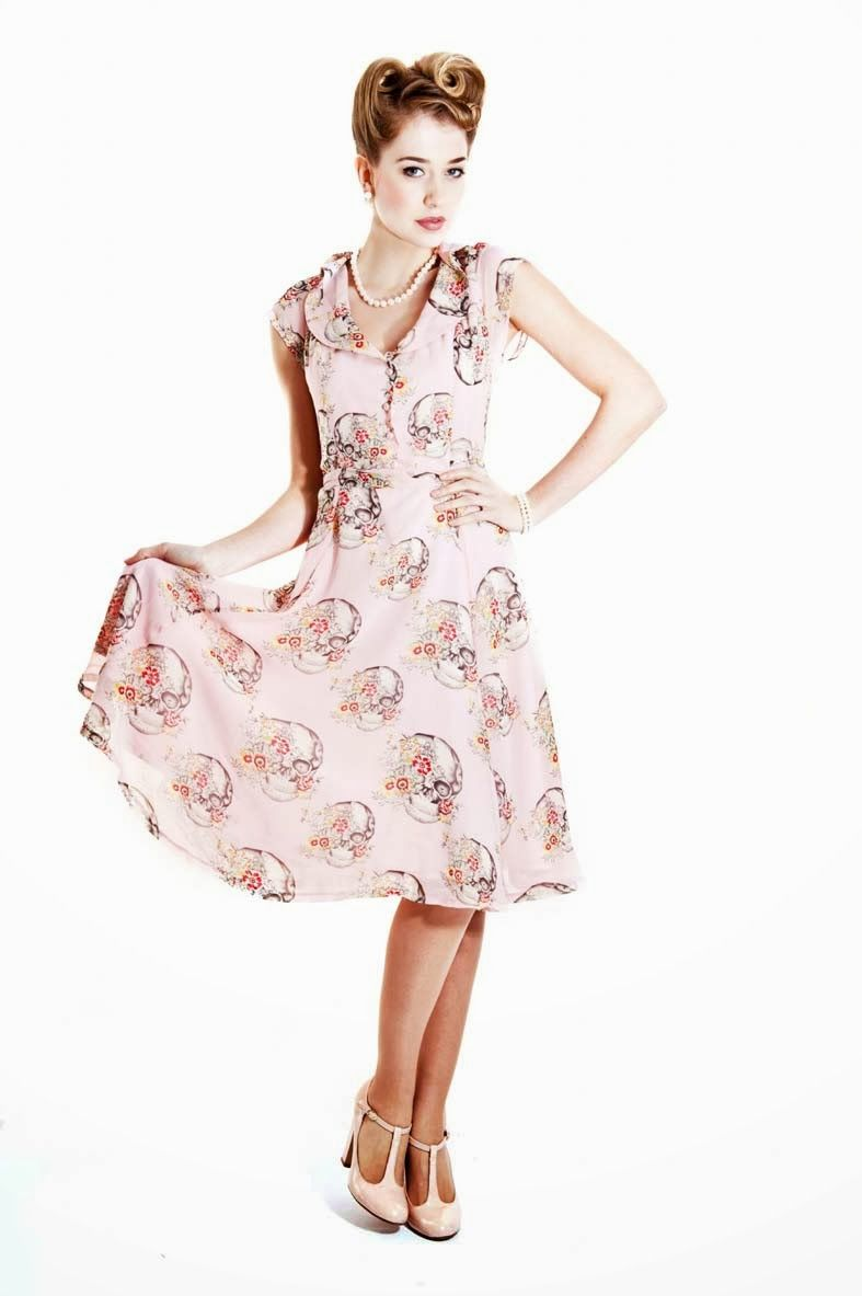 05828fce6d0f5a Pink skull dress just bought from Collectif :)) | Skulls | Dresses ...