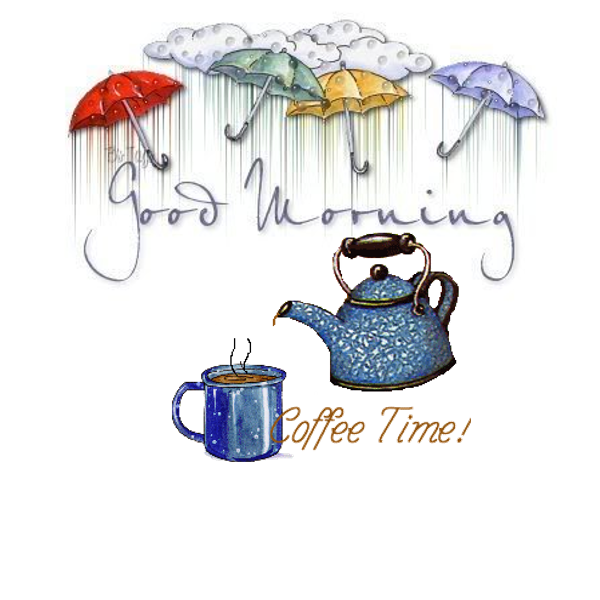Good Morning! Coffee time on a rainy day! Coffee drinks