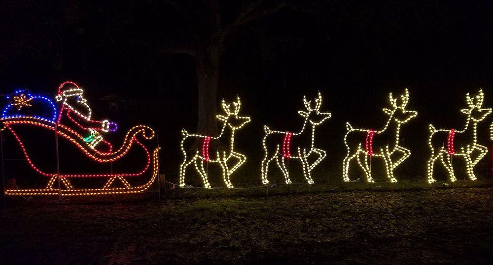 Commercial Santa Sleigh Reindeer Outdoor Led Lighted Decoration