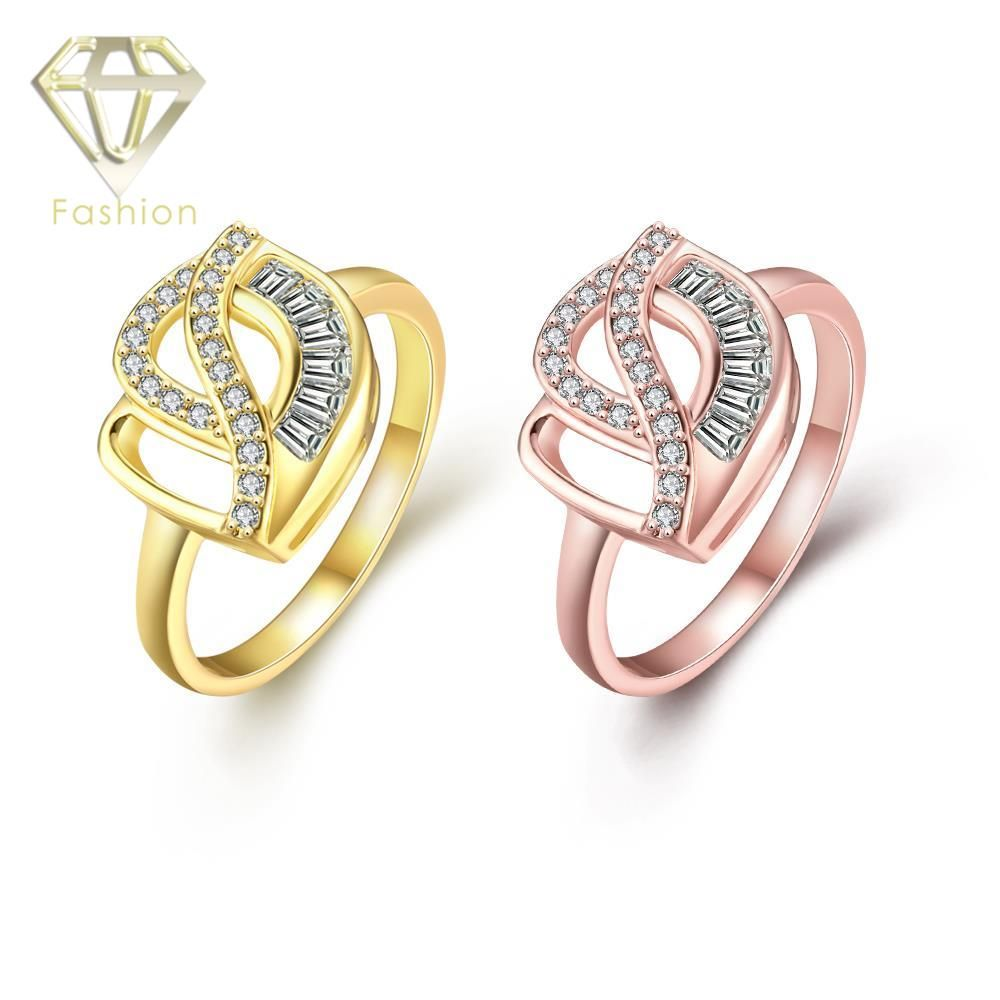 Types of Engagement Rings New Design Unique Hollow Hearts Inlaid ...