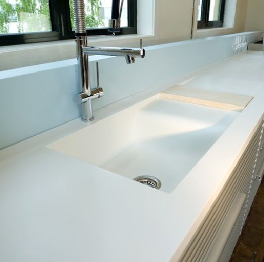 The anti granite corian work surface and splashback my for Sink splashback ideas