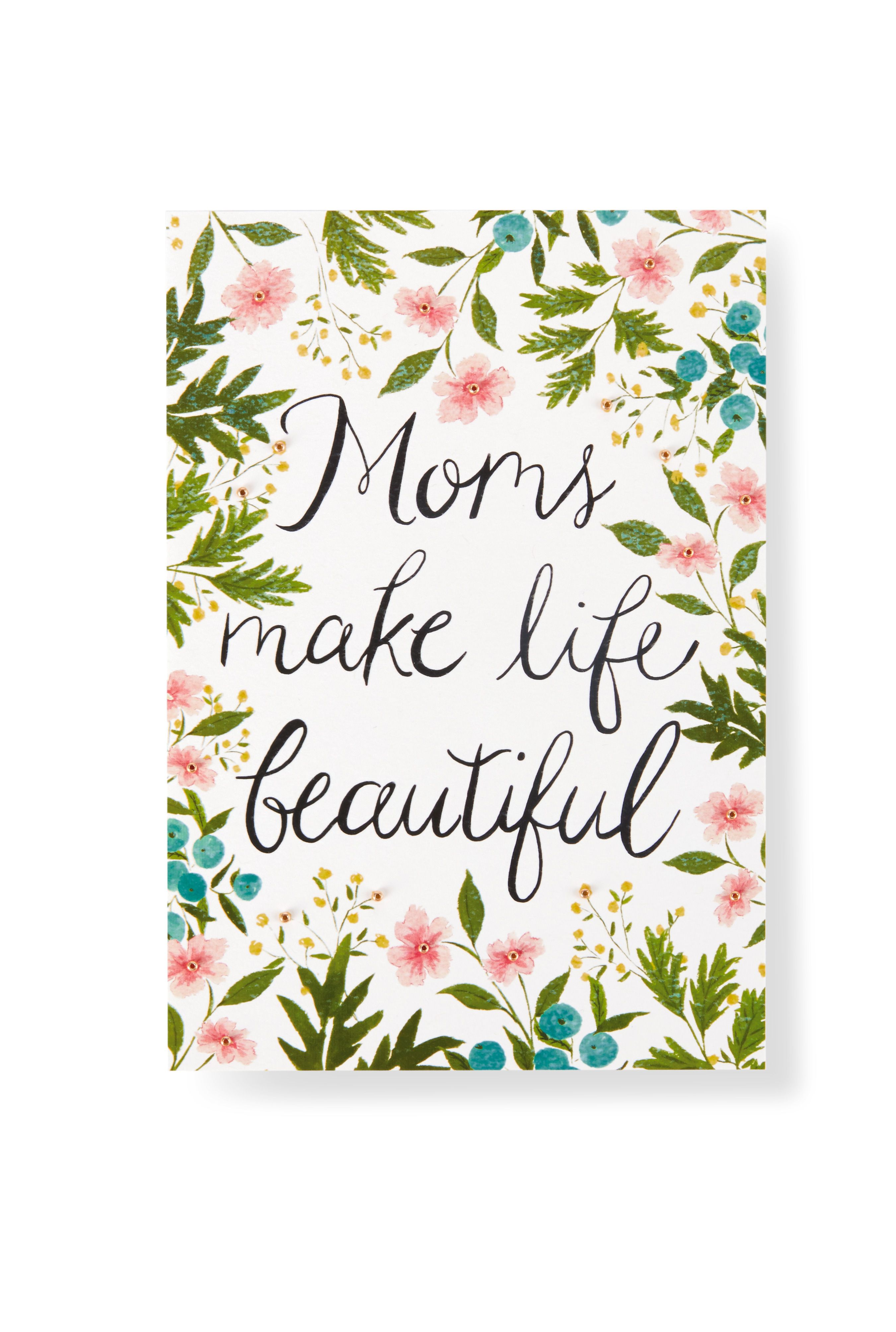 Amazing Show Mom How Much You Care With This Pretty Floral Inspired Motheru0027s Day  Card From Hallmark Gold Crown.