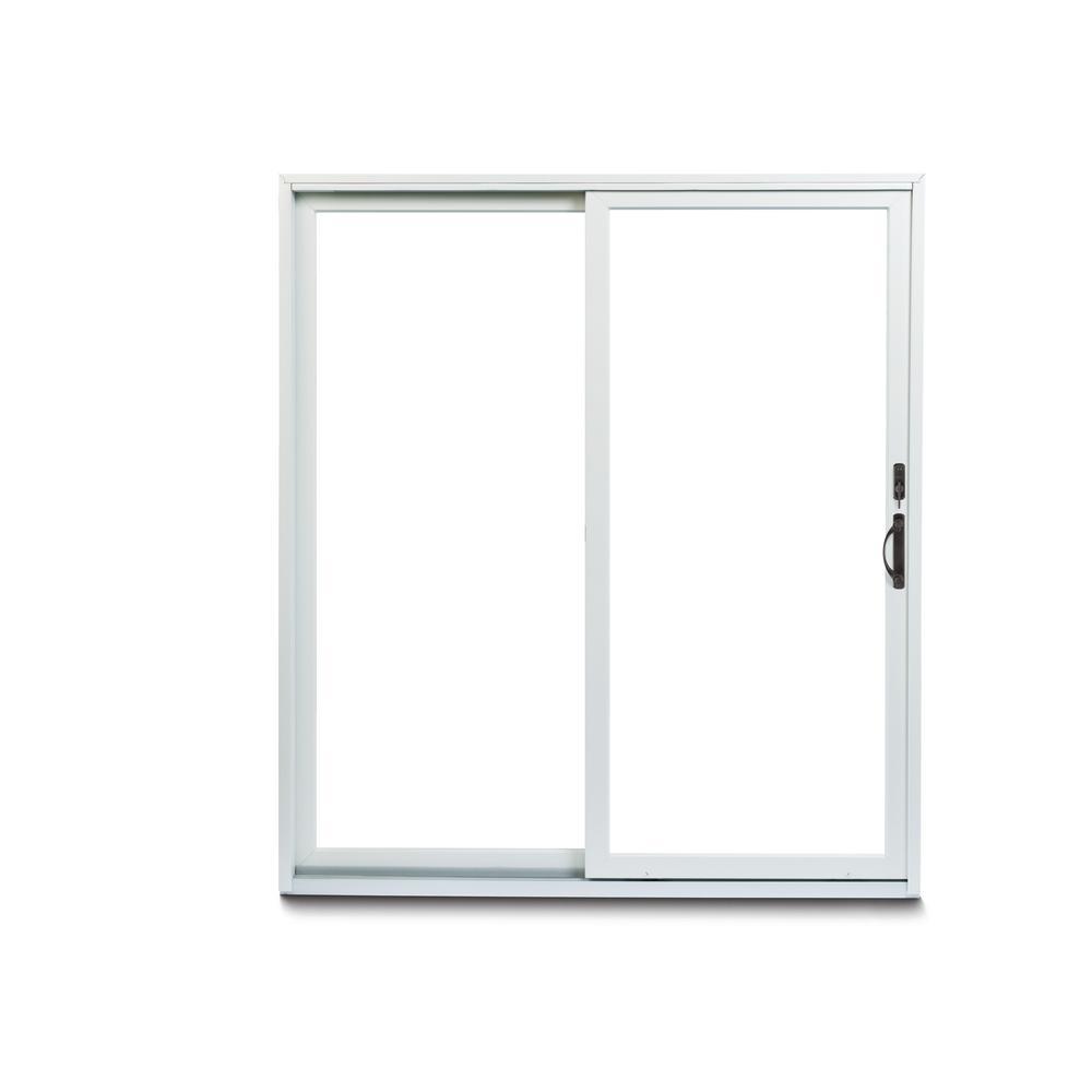 Andersen 70 1 2 In X 79 1 2 In 200 Series Left Hand Perma Shield Gliding Patio Door With Orb Hardware 917417 In 2020 Satin Nickel Hardware Patio Doors Vinyl Cladding
